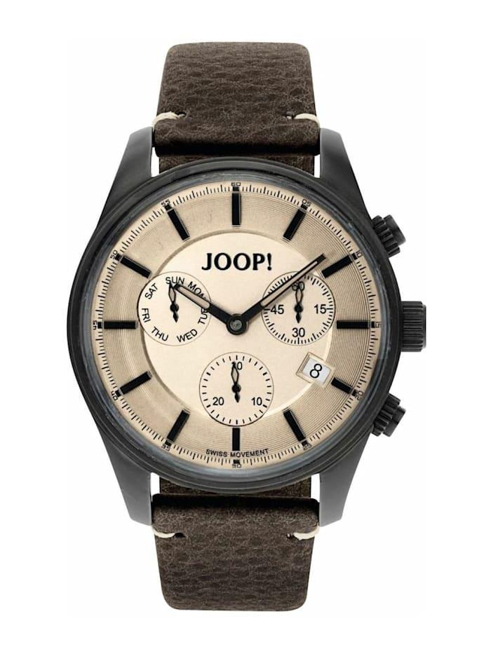 JOOP! Chronograph für Herren, Edelstahl, Braun