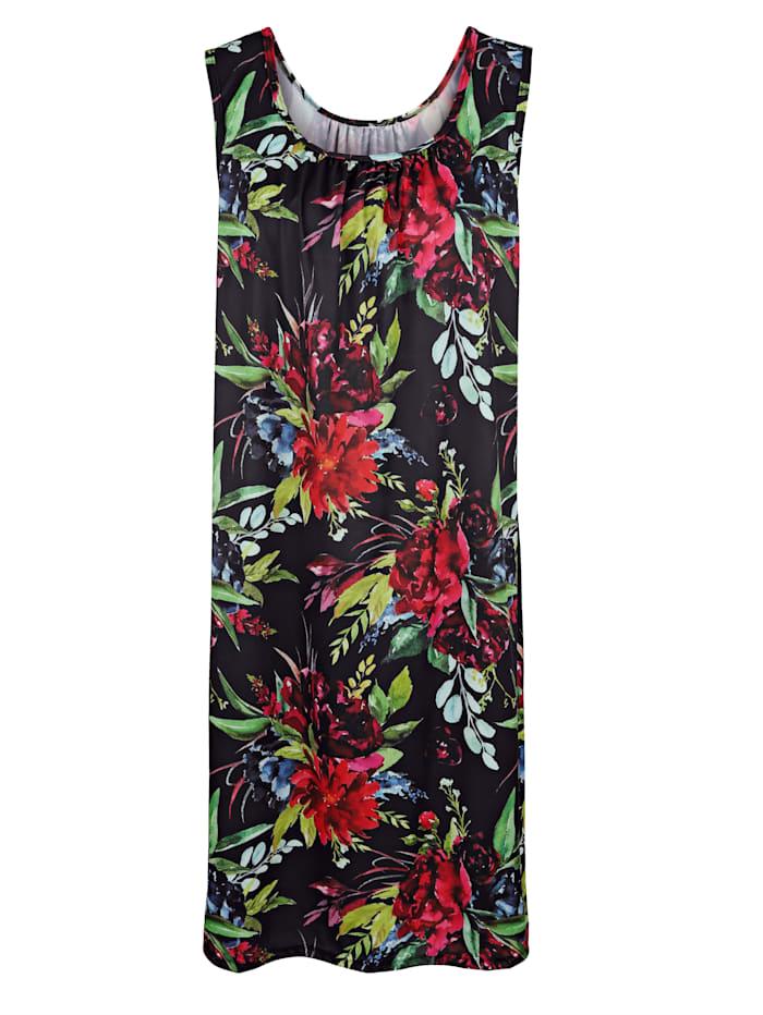 Schwab Bademoden Strandkleid im klassischen Floraldruck, Schwarz/Rot