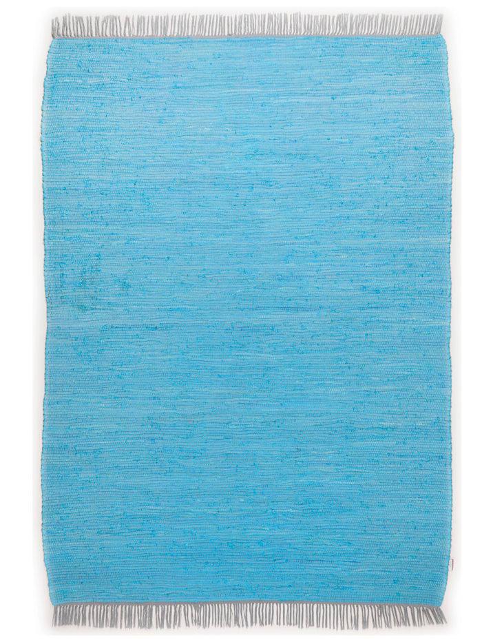 Tom Tailor Handwebteppich Cotton, türkis