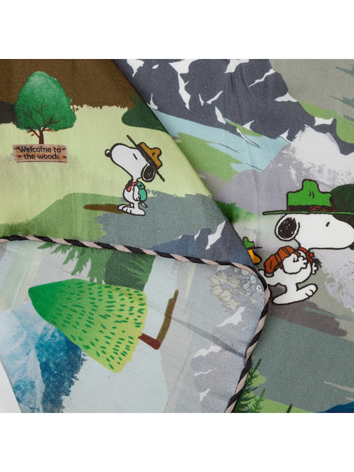 ",,PEANUTS"" Mini-Carré mit Snoopy & Co aus reiner Seide"