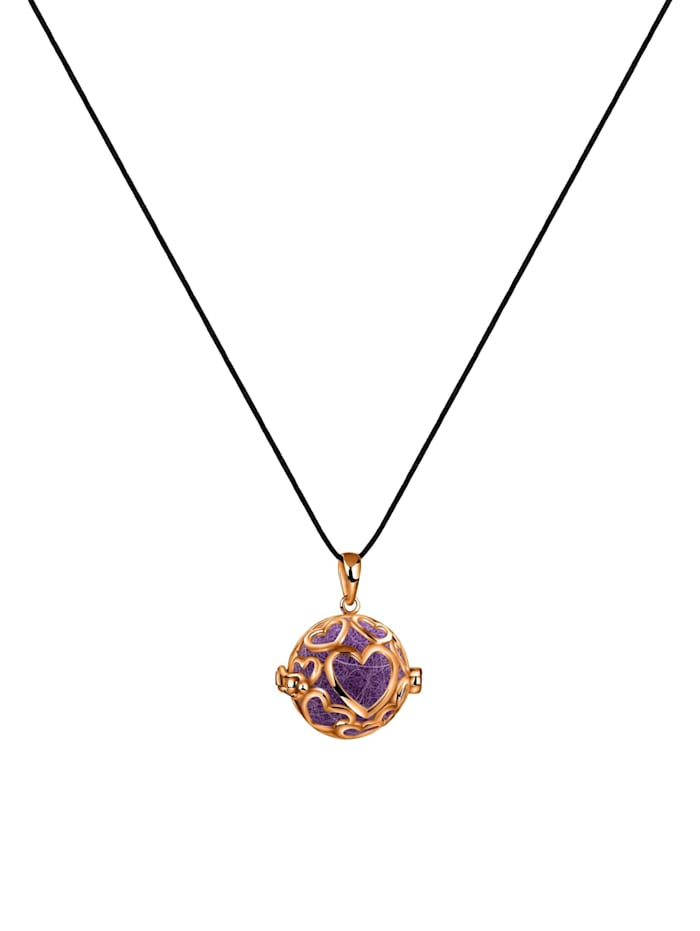 Halskette Anhänger Nepal Filzkugeln Herzen Duft 925Er Silber