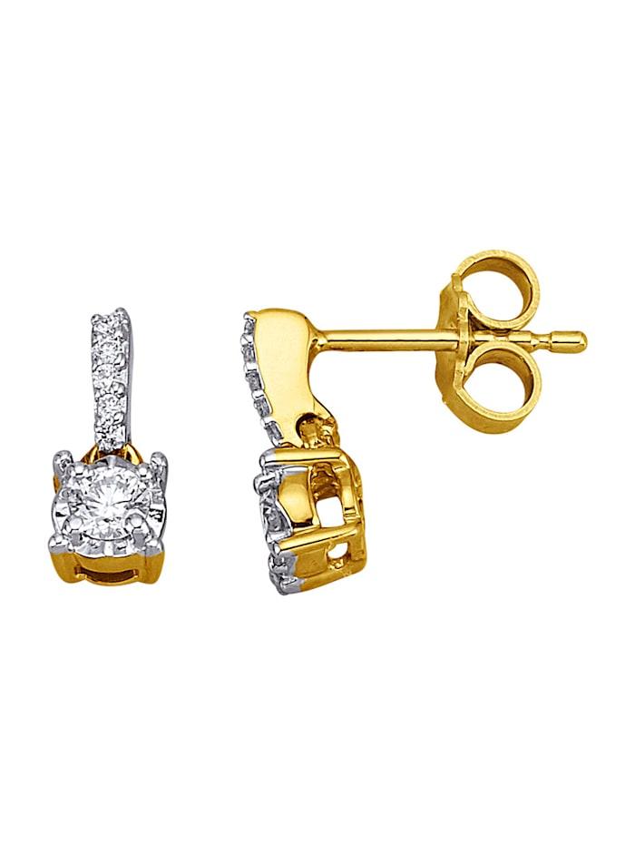 Amara Diamant Ohrstecker in Gelbgold 585, Gelbgoldfarben