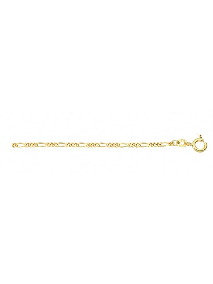 1001 Diamonds Damen Goldschmuck 585 Gold Figaro Halskette Ø 1,8 mm, gold