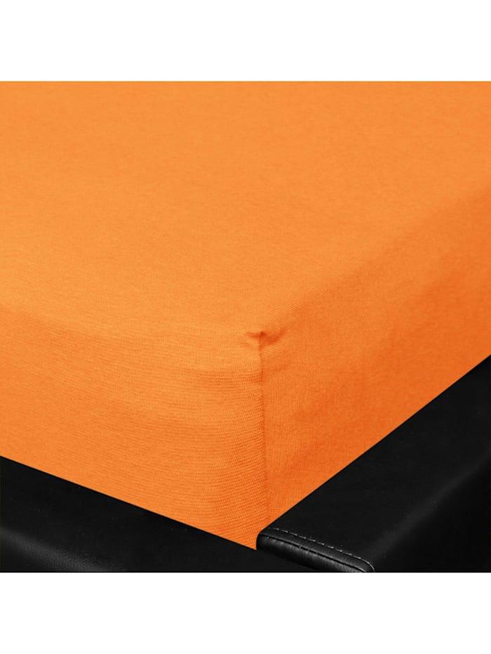 Bettwaren-Shop Jersey Spannbettlaken Multi-Stretch, orange