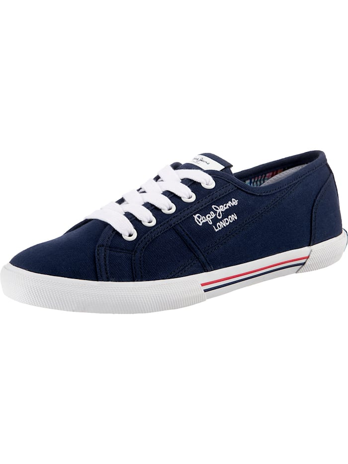 Pepe Jeans Aberlady Ecobass Sneakers Low, dunkelblau