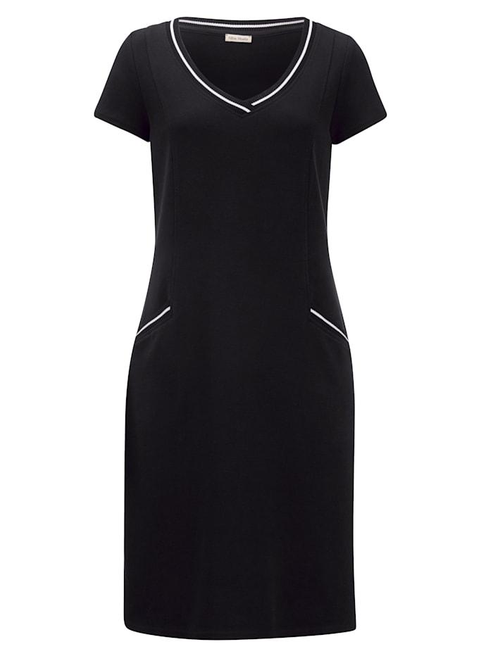 Jersey jurk van hoogwaardig piquémateriaal
