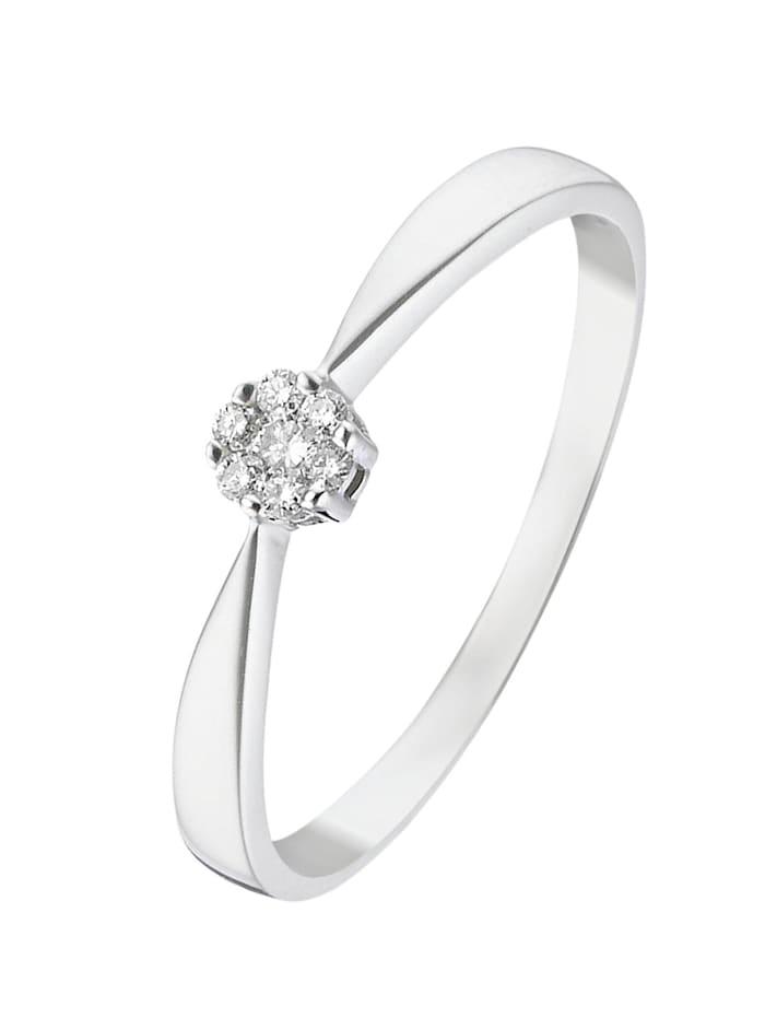 CHRIST Diamonds CHRIST Diamonds Damen-Damenring 375er Weißgold 7 Diamant, Weißgold