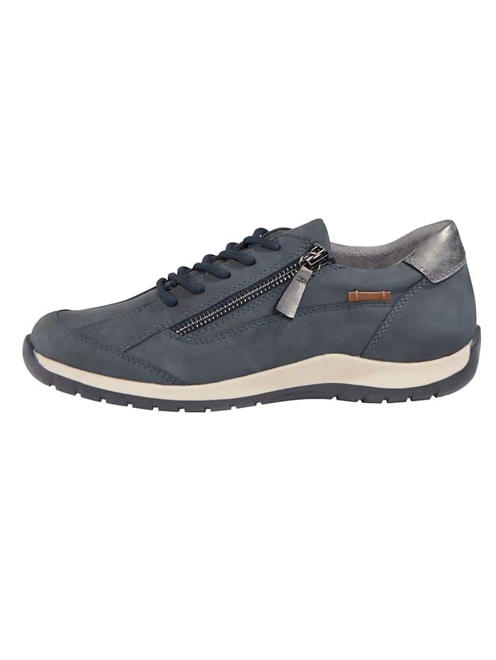 Sneakers avec glissière côté au cou-de-pied
