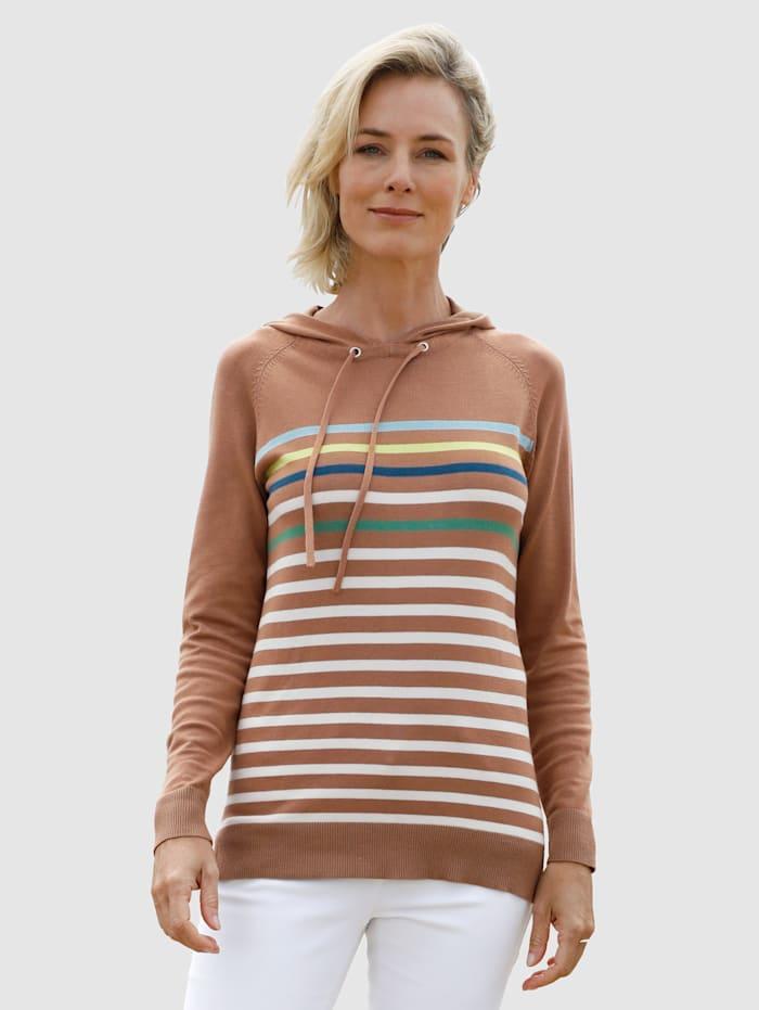 Dress In Raidallinen neulehuppari, Kameli