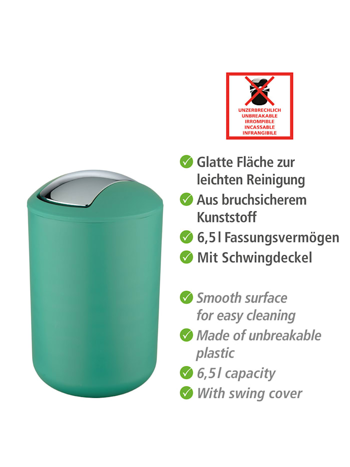 Schwingdeckeleimer Brasil Grün L, 6,5 Liter