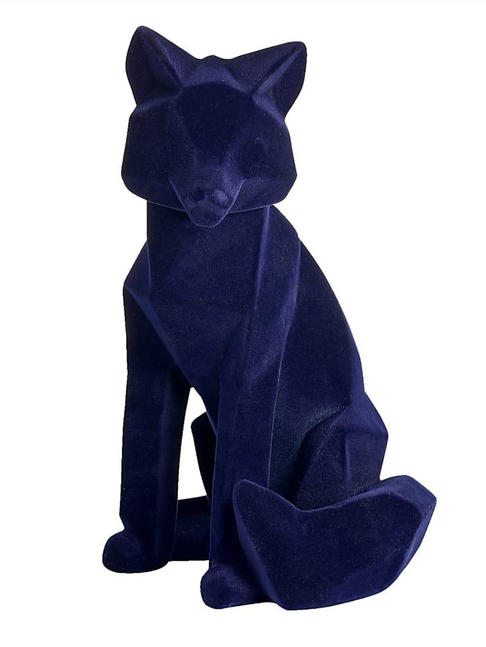 IMPRESSIONEN living Figurine Renard, Bleu