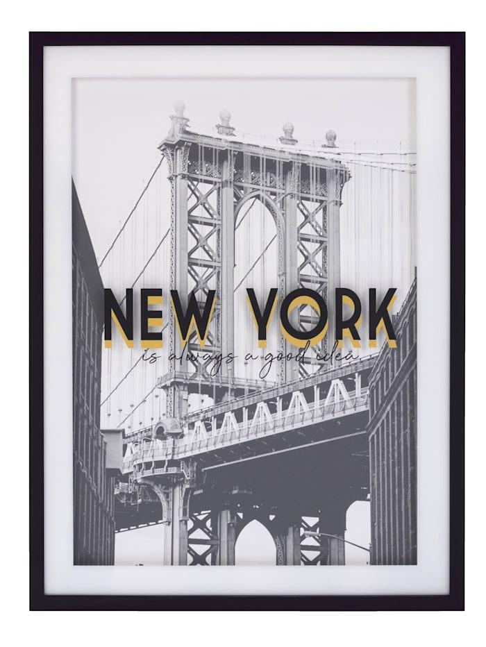 IMPRESSIONEN living Image, New York City, noir/blanc/coloris doré