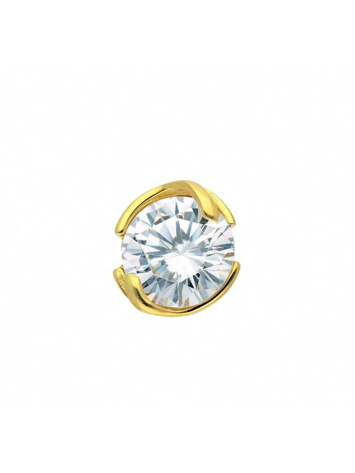 1001 Diamonds Damen Goldschmuck 375 Gold Anhänger mit Zirkonia, gold