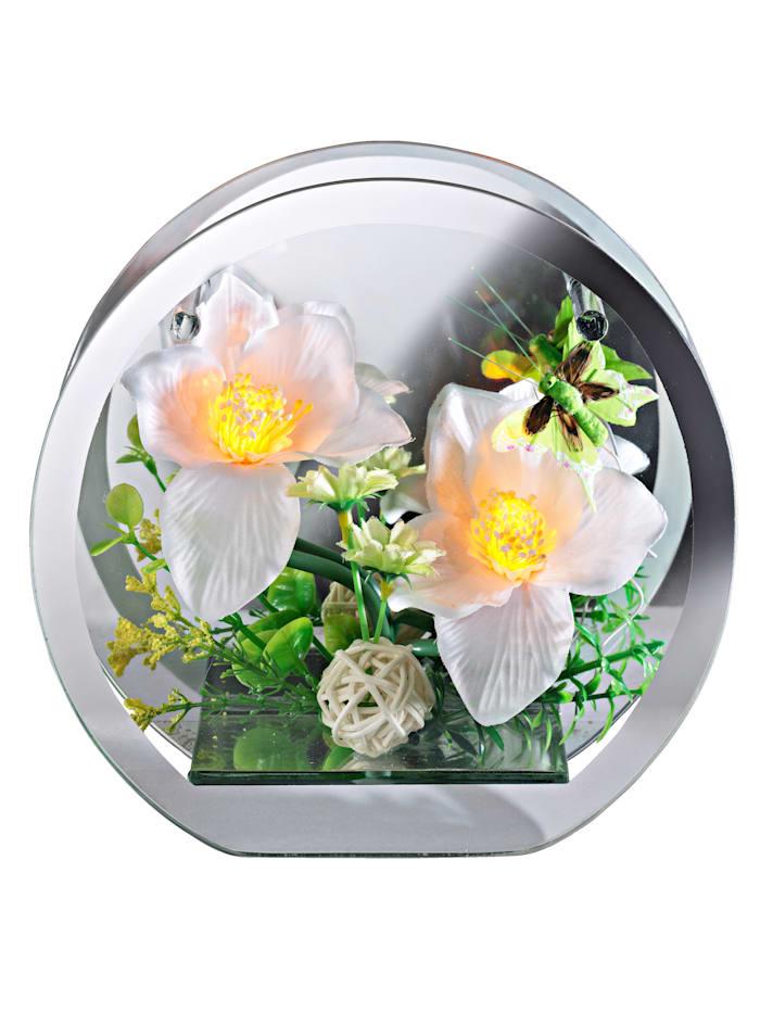 Orkidéarrangement, hvit