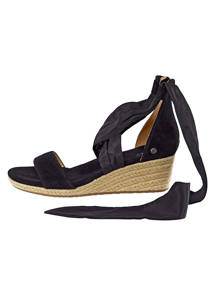 Sandalette mit Band zum Schnüren