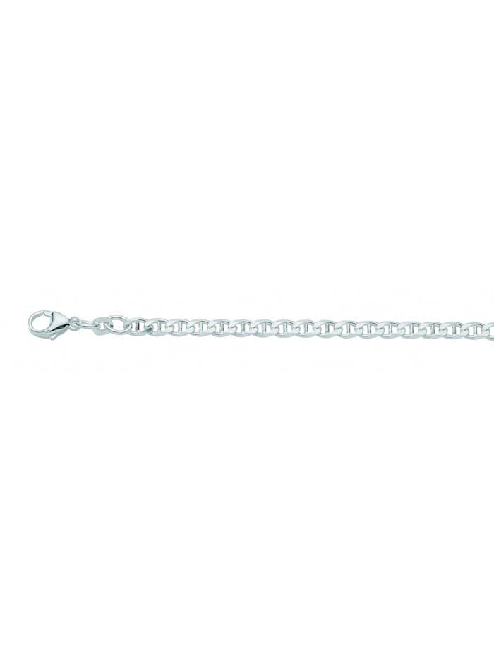 1001 Diamonds Damen Silberschmuck 925 Silber Panzer Armband 19 cm Ø 3,8 mm, silber