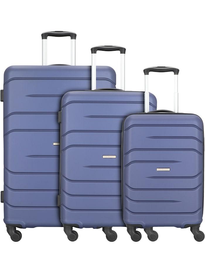 NOWI Milano 5.0 4-Rollen Kofferset 3tlg. 3-teilig, blau