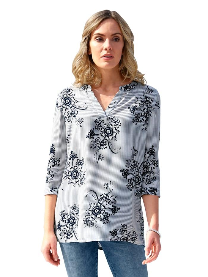 AMY VERMONT Tunika mit floralem Muster allover, Grau