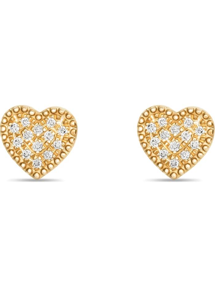 CHRIST C-Collection CHRIST Damen-Ohrstecker 26 Diamant, gelbgold