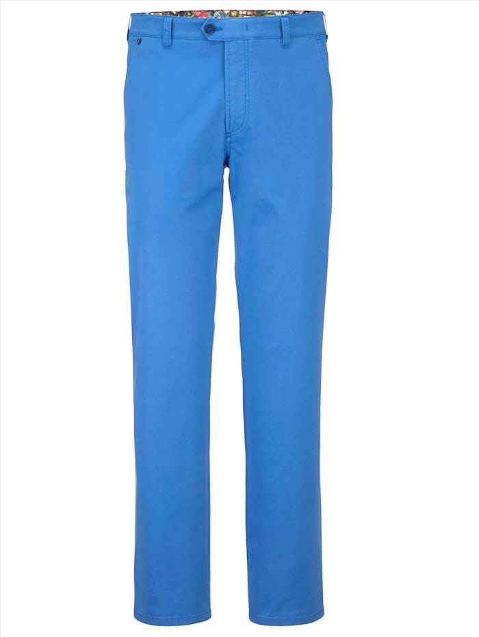 BABISTA Pantalon chino en coton PIMA mélangé, Bleu roi