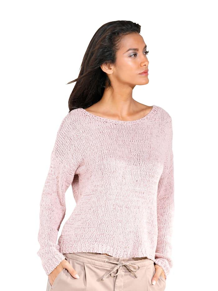 Public Pullover aus meliertem Garn, Rosa