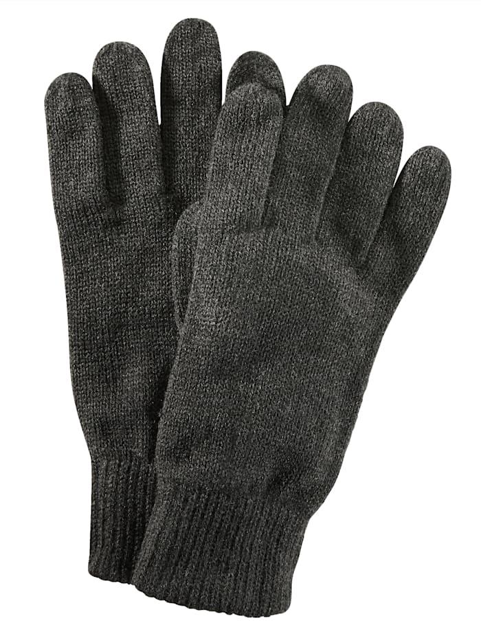 BABISTA Handschoenen van warm & zacht materiaal, antraciet gemêleerd