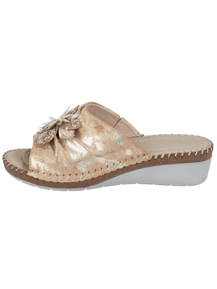 Mule Shoes with beautiful flower embellishment