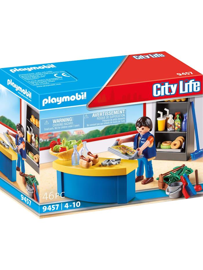PLAYMOBIL Konstruktionsspielzeug Hausmeister mit Kiosk, Bunt
