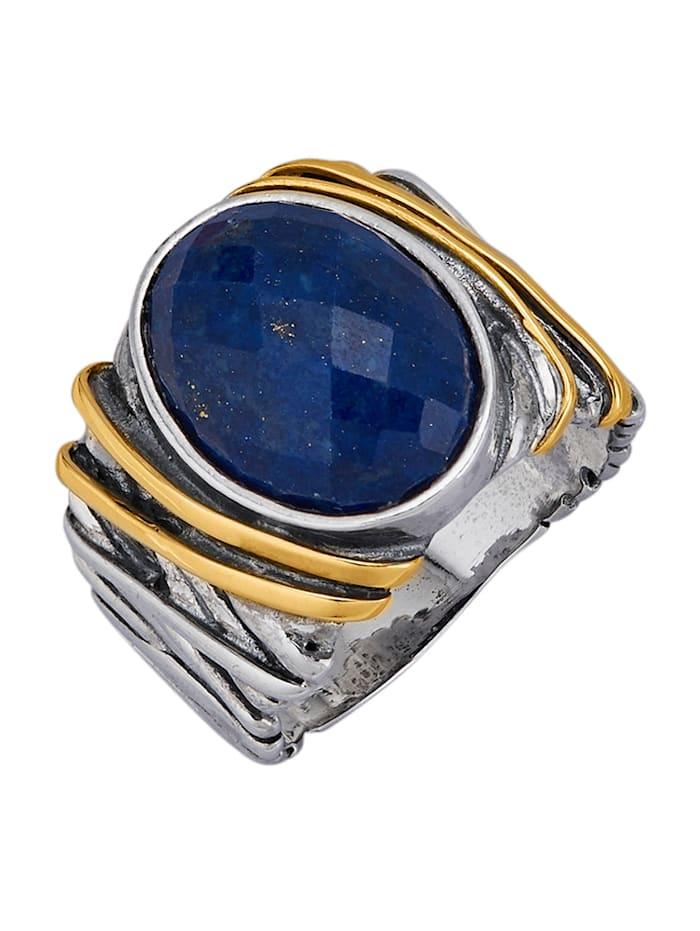 Amara Pierres colorées Bague avec lapis-lazuli, Bleu