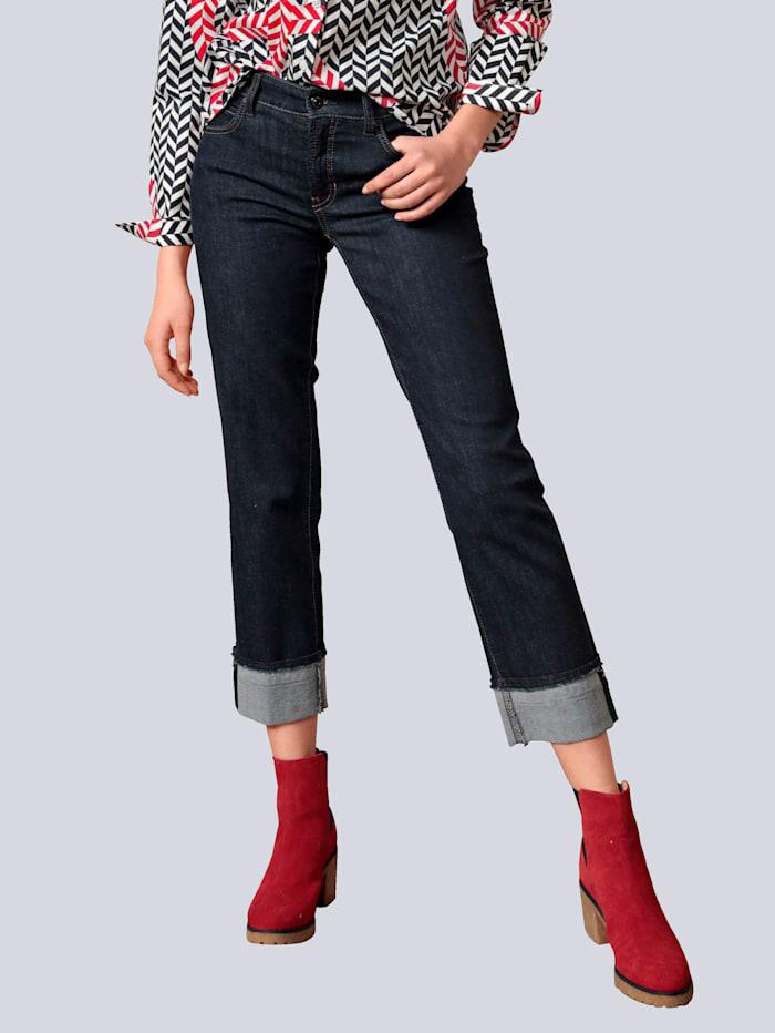 CAMBIO Jeans mit Verzierung am Saum, Blue stone