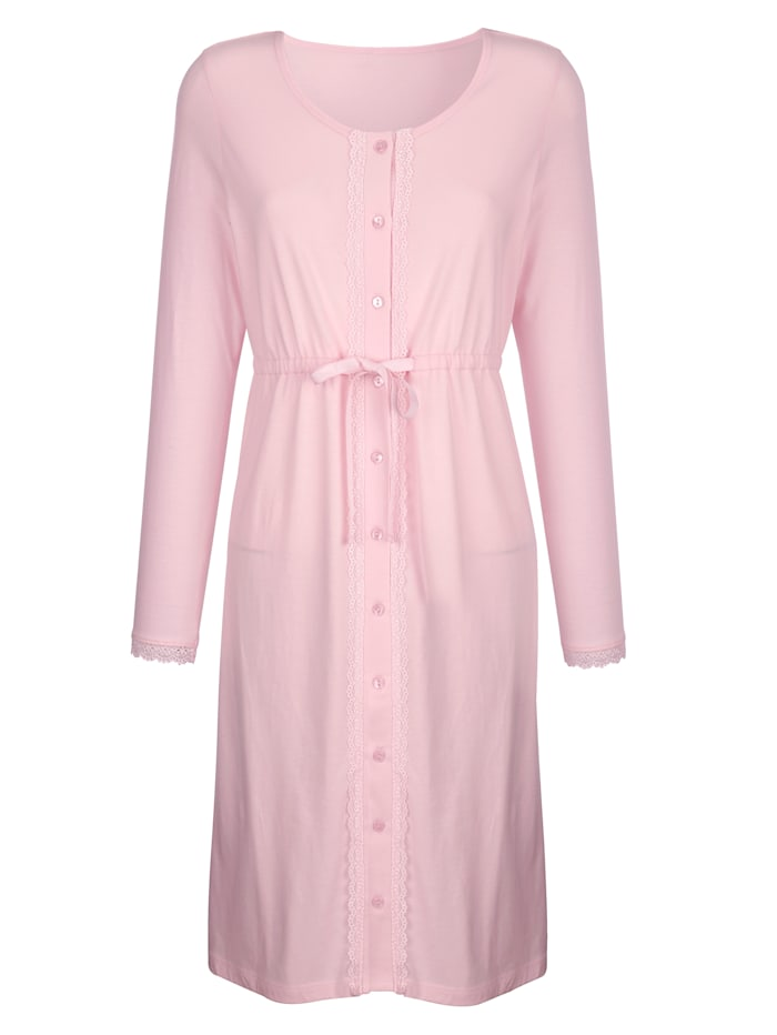 Nightdress with full button placket