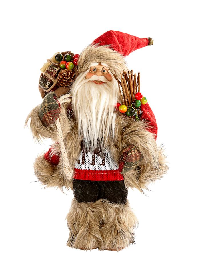Jultomte med julklappssäck, Flerfärgad