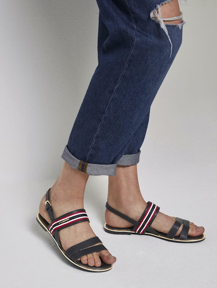 Tom Tailor Denim Sandalen mit Schnalle, navy