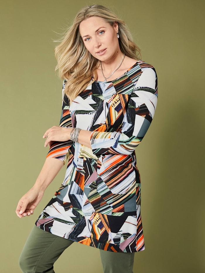 MIAMODA Longshirt mit farbenfrohem Grafikdruck, Multicolor