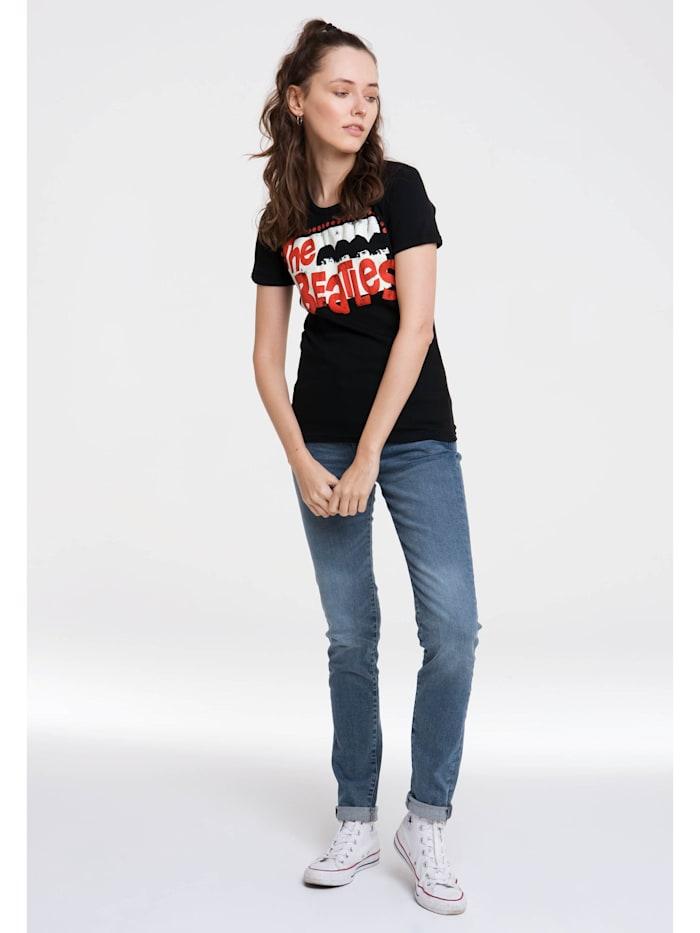 Logoshirt T-Shirt mit lizenziertem Originaldesign, schwarz