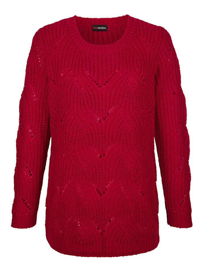 Pullover aus leicht transparentem Ajourstrick