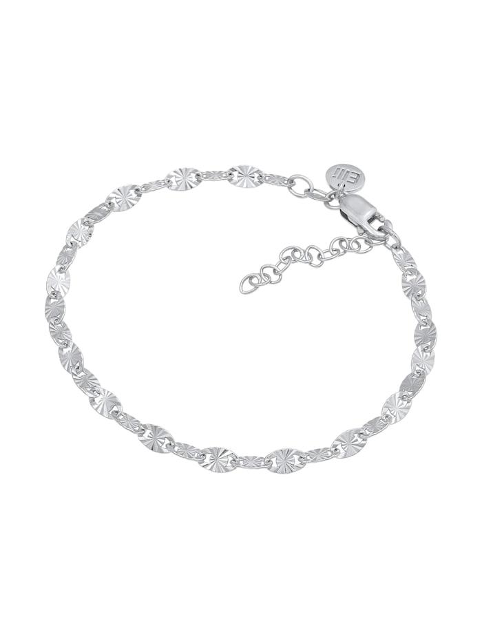 Armband Plättchen Look Stern Design 925 Sterling Silber