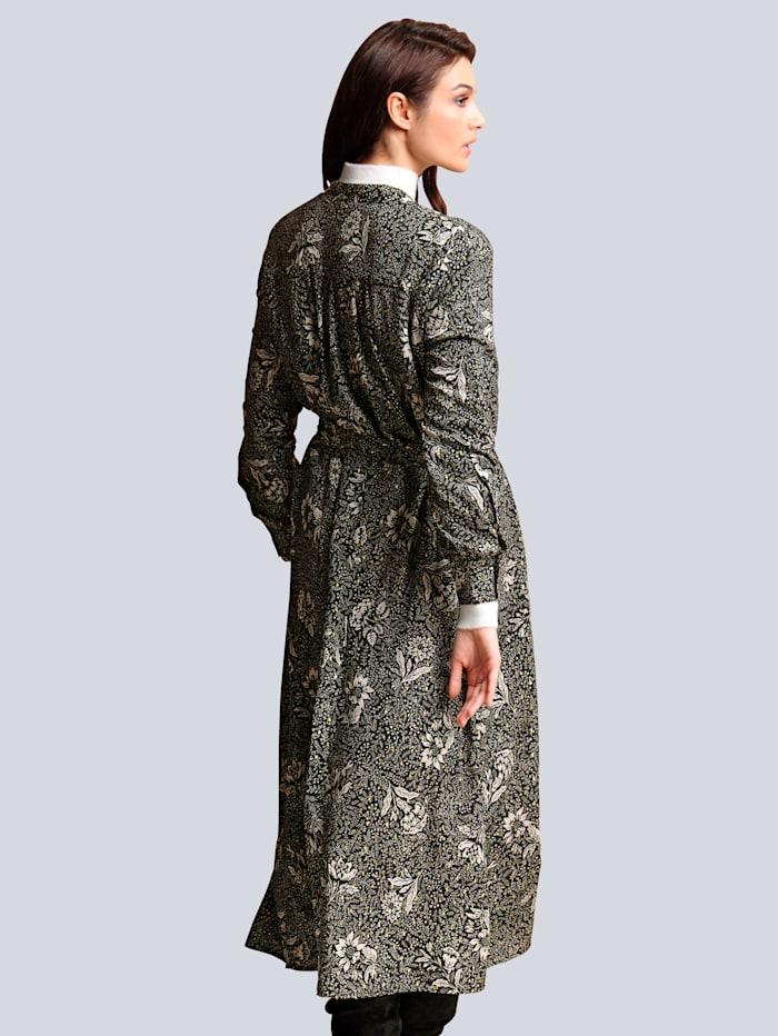 Kleid mit Glanzgarn-Effekt