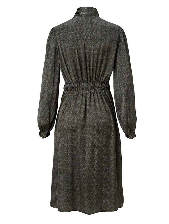 Kleid mit Schluppe und Minimal-Druck