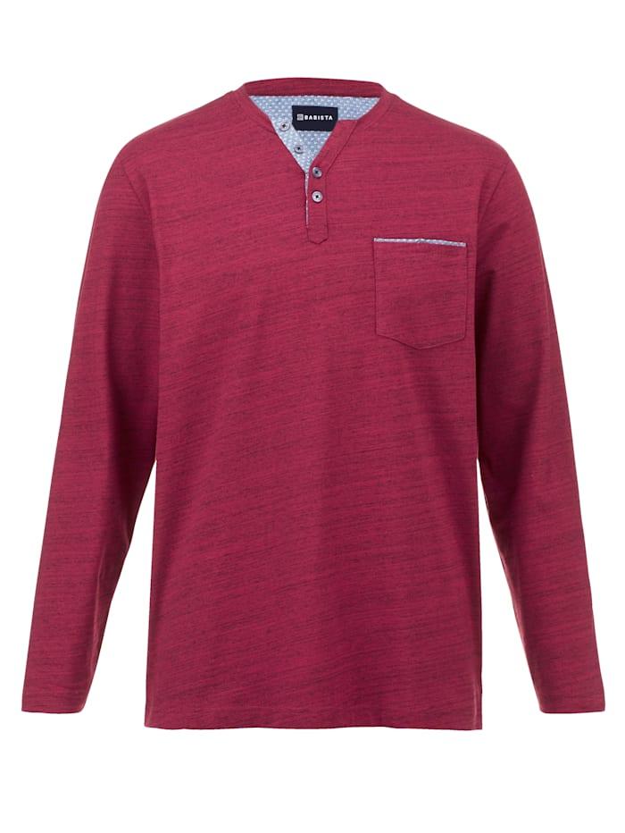 BABISTA Henleyshirt aus pflegeleichter Baumwoll-Mischung, Rot