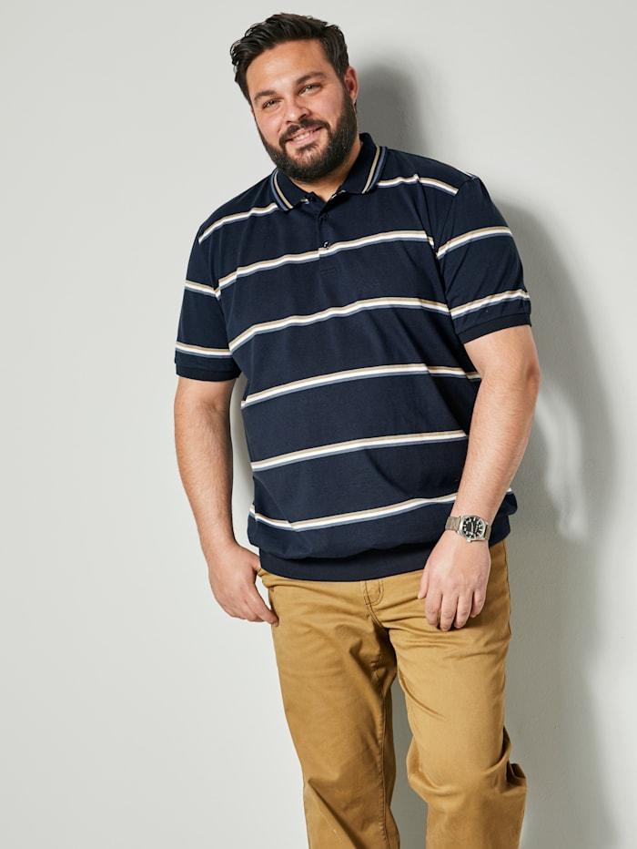 Men Plus Poloshirt Spezialschnitt, Marineblau