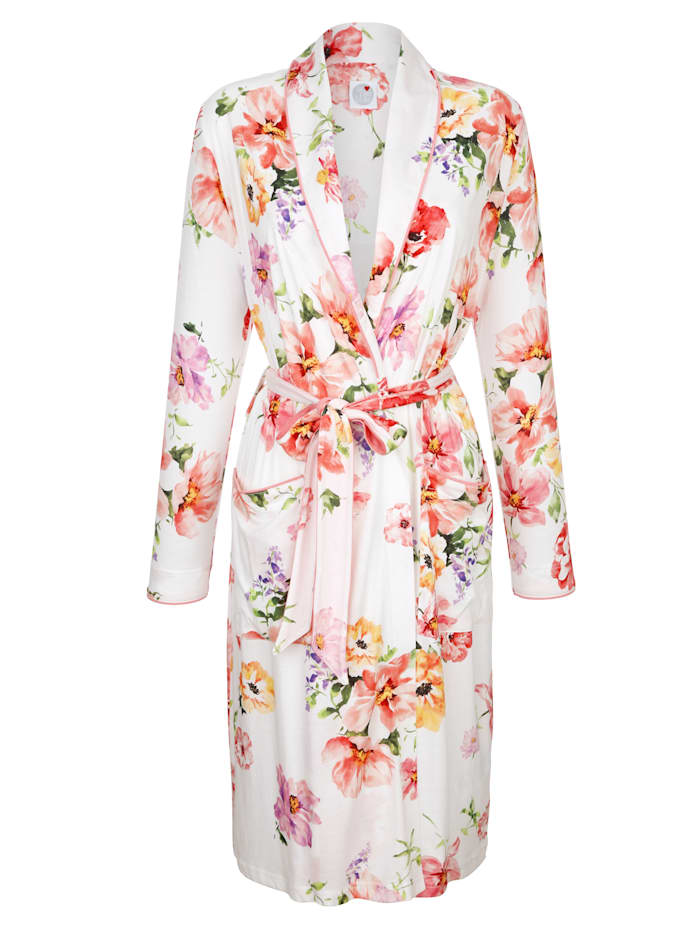 Dressing gown with pretty floral print