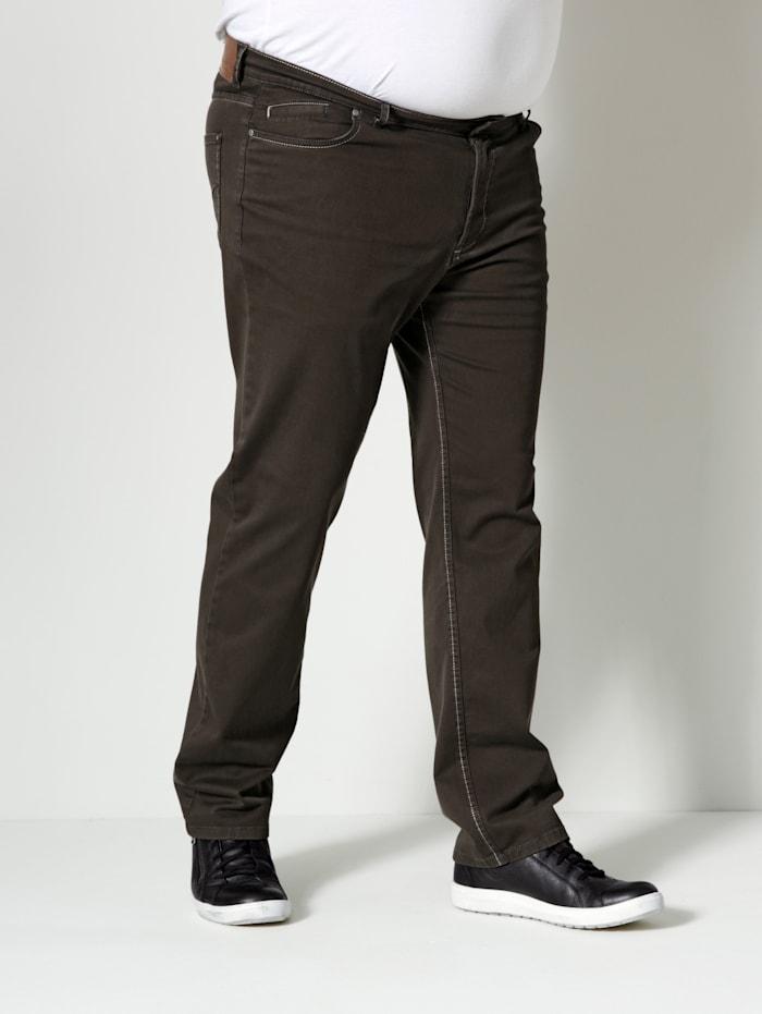 Men Plus Hose Straight-Fit, Braun