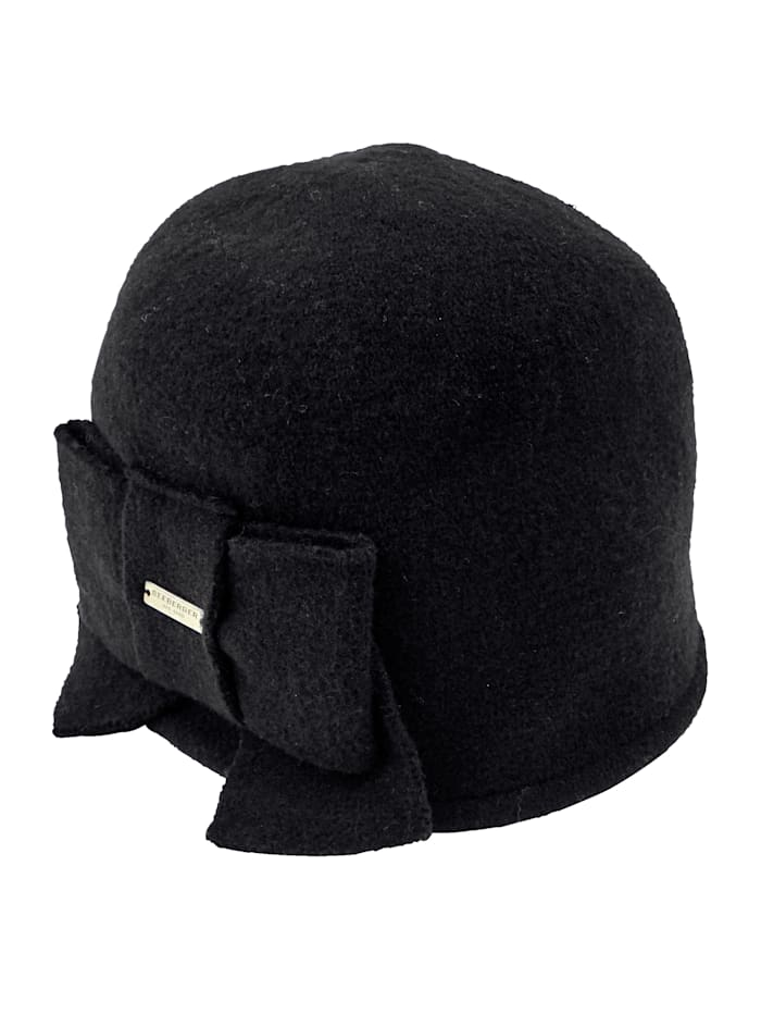 Wool hat with bow detail