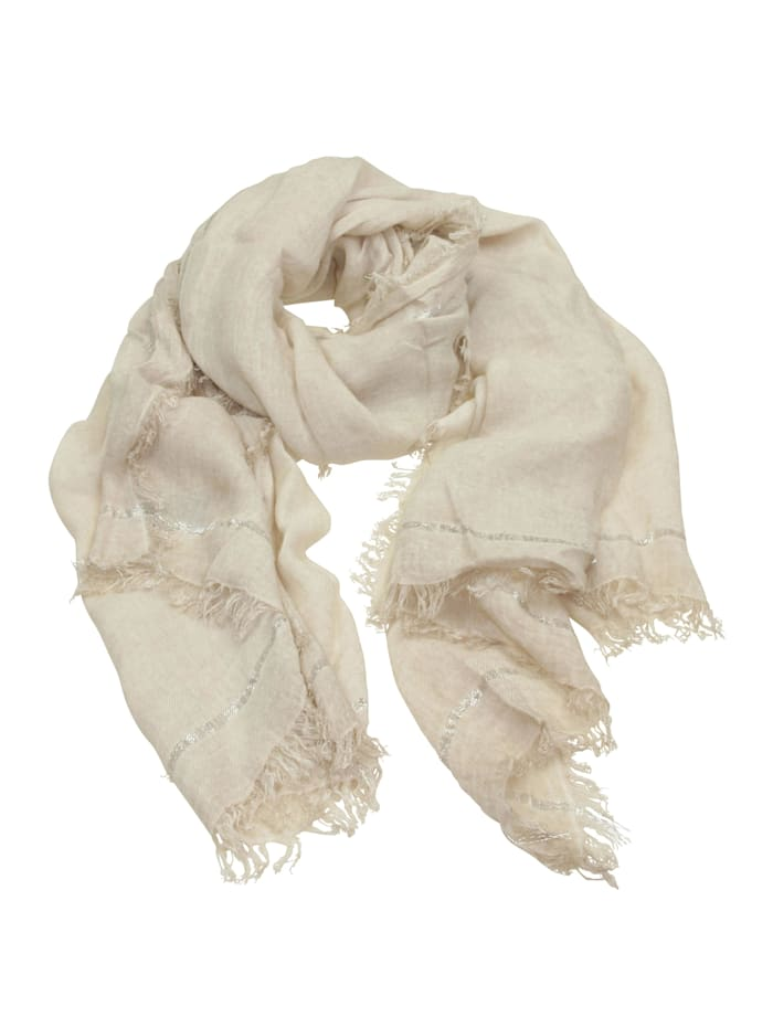 Collezione Alessandro Italienischer Schal Argento Made in Italy, beige