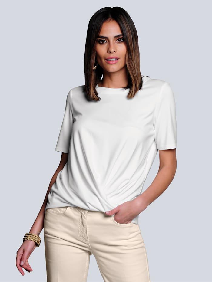 Alba Moda Shirt mit effektvoller Knotenoptik, Off-white