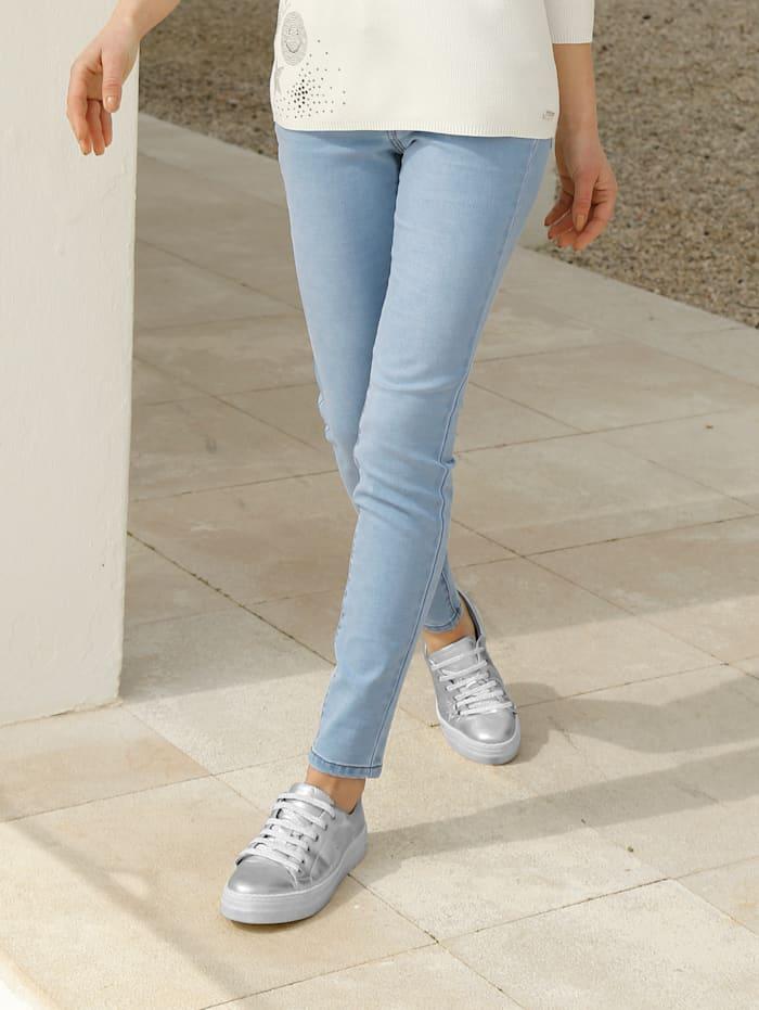 AMY VERMONT Jeans mit Flecht-Detail, Light blue