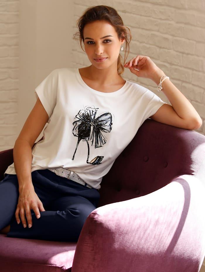 Shirt mit trendigem Print im Vorderteil