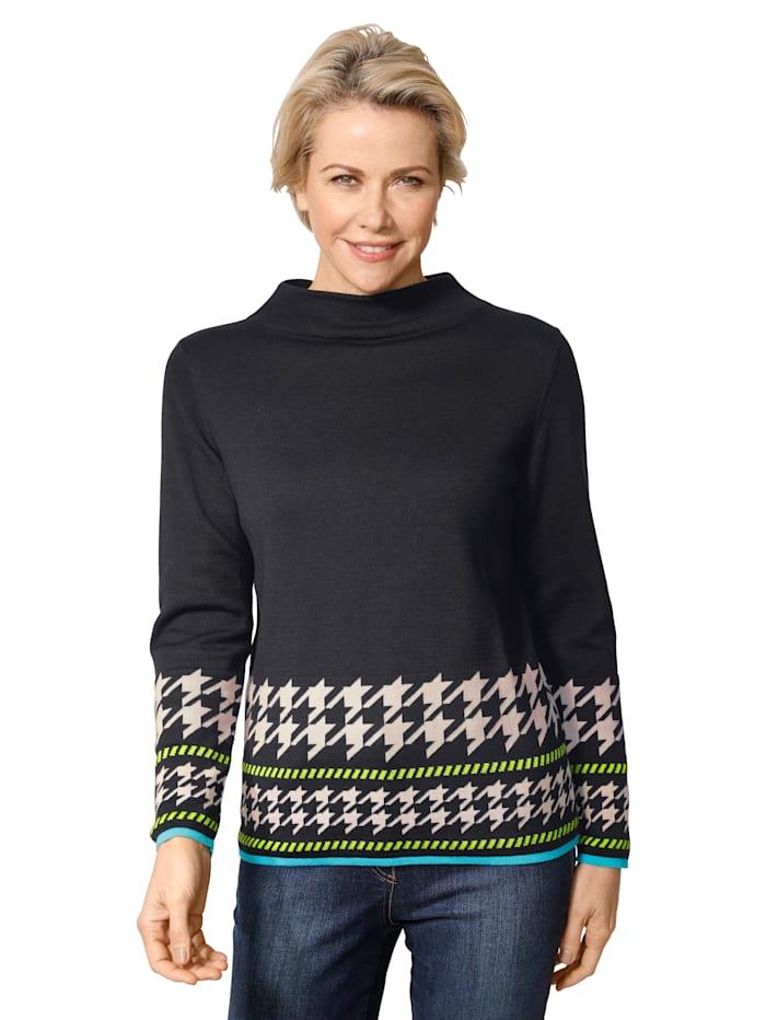 Pullover mit attraktiver Bordüre