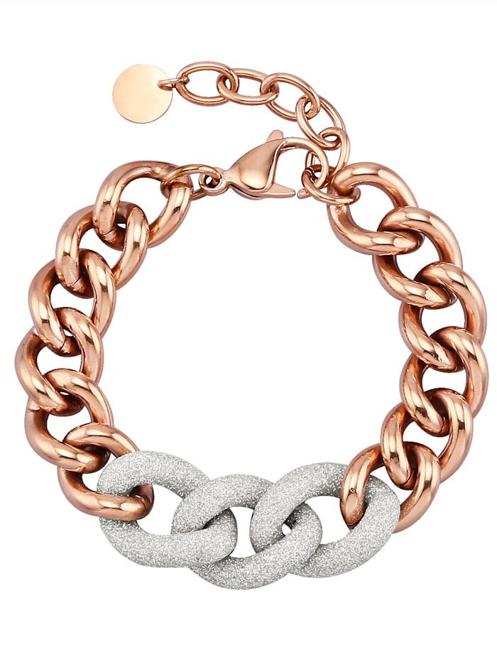 Qudo Armband mit weißen Zwischenelementen 173077, Weiß